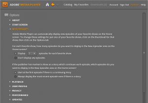 Adobe Media Player 1.7 indir Adobe Media Player 1.7  resimleri2