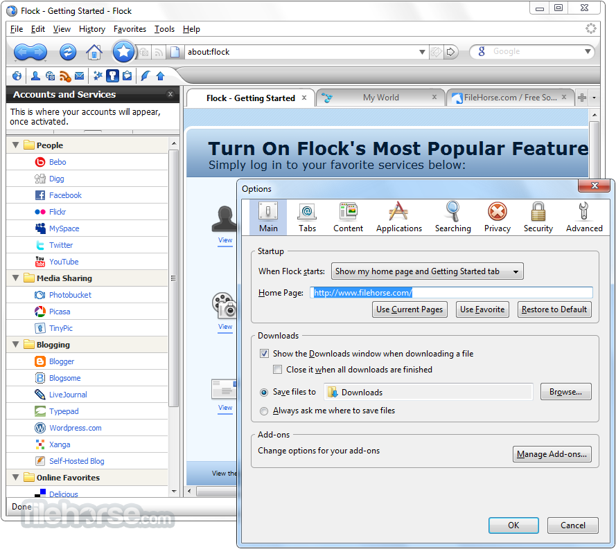 flock browser 2013