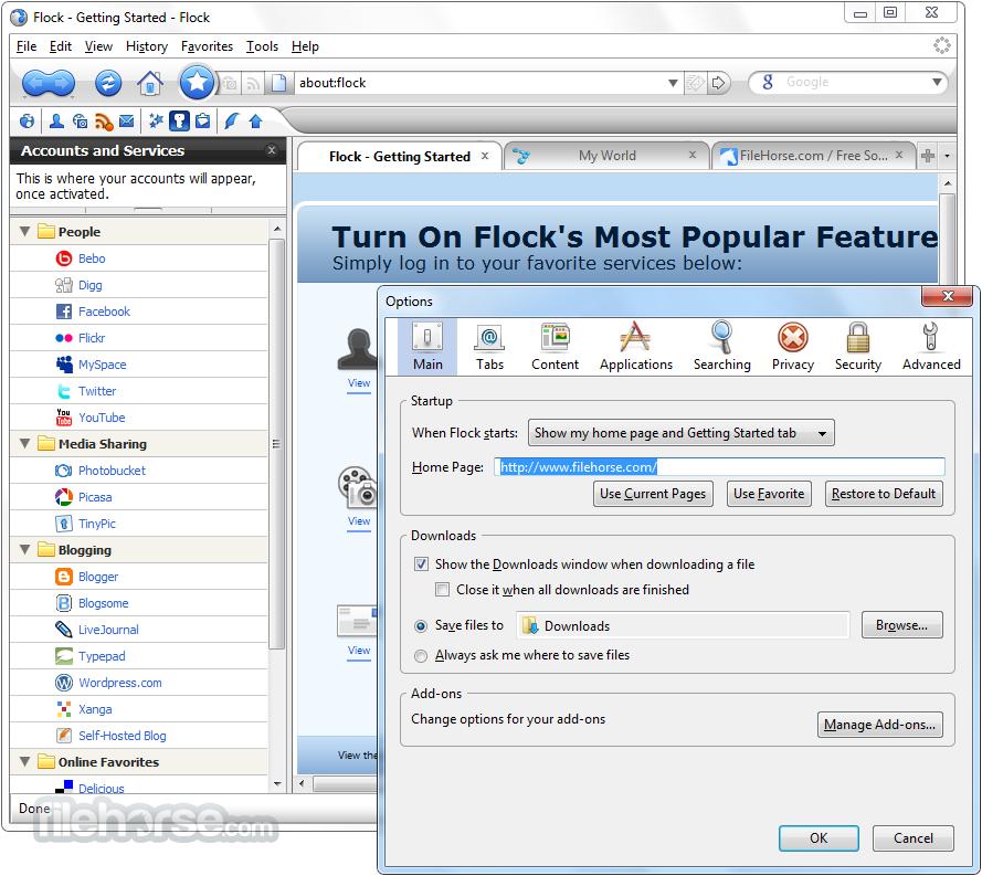 flock browser 2013