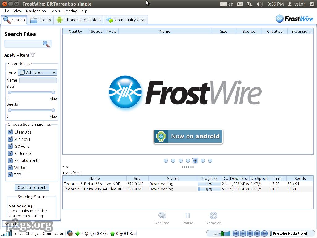 FrostWire 5 6 3 Dosya Paylaşım indir