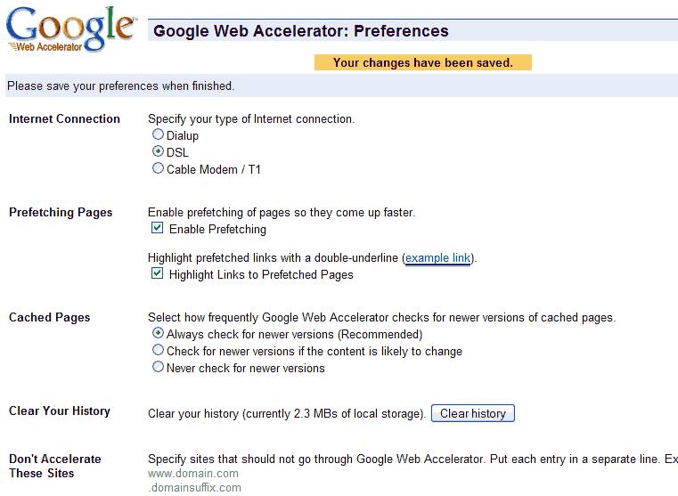 Google Web Accelerator Resimleri2
