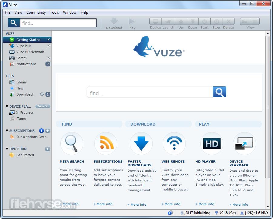 Vuze son sürüm indir Vuze indir Vuze download Vuze özellikleri