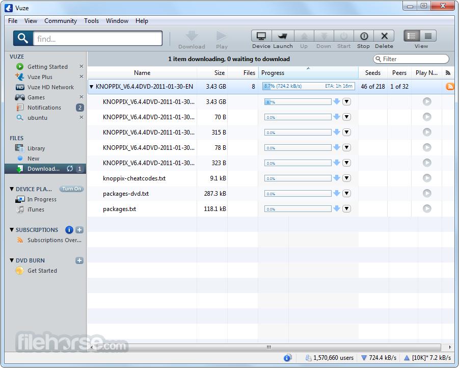 Vuze son sürüm indir Vuze indir Vuze download Vuze özellikleri2