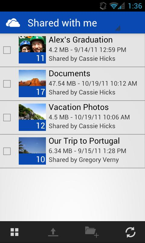 SkyDrive android download